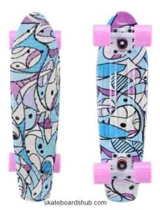 Playshion Complete 22 Inch Mini Cruiser Skateboard
